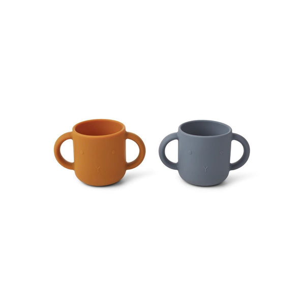 Liewood Gene Silicone Cups (2 Pack) - Rabbit Blue Wave