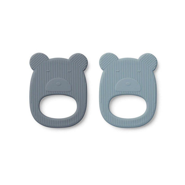Liewood Geo Teether - Mr Bear Blue Mix (2 pack)