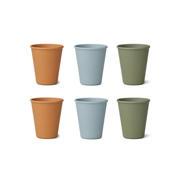 Liewood Gertrud Bamboo Cup - 6 Pack Blue Multi Mix