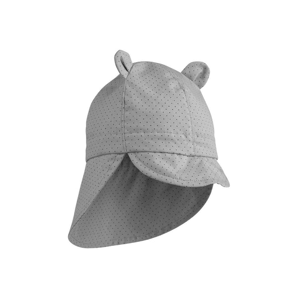 Liewood Gorm Sun Hat in Little Dot Dumbo Grey