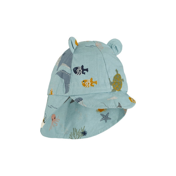 Liewood Gorm Sun Hat in Sea Creature Mix