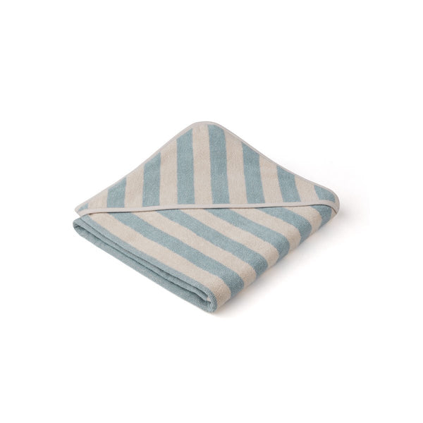 Liewood Louie Hooded Junior Towel  - Sea Blue / sandy