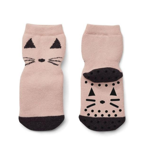 Liewood Nellie / Anti Slip Socks - Cat Rose (2 Pack)