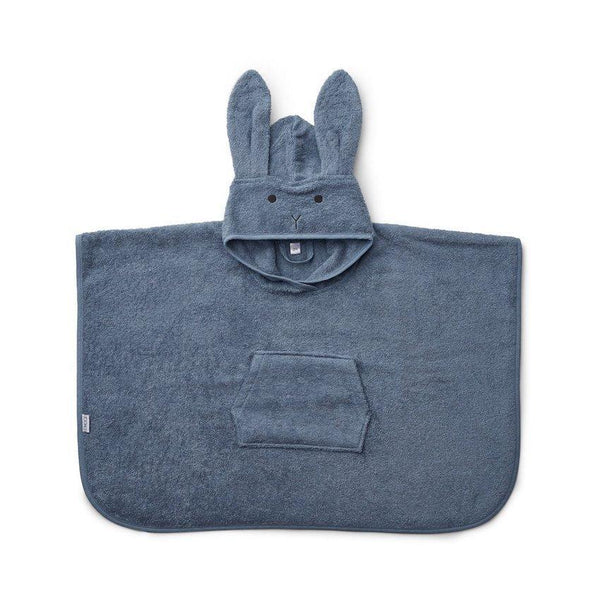 Liewood Orla Poncho Rabbit Blue Wave