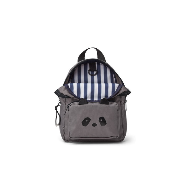 Liewood Saxo Mini Backpack in Panda Stone Grey
