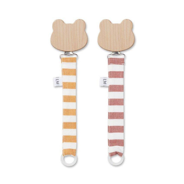 Liewood Sia Pacifier Strap in Mustard