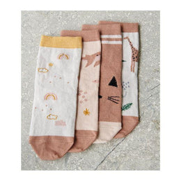 Liewood Silas Socks in Safari Rose Mix (4 pack)