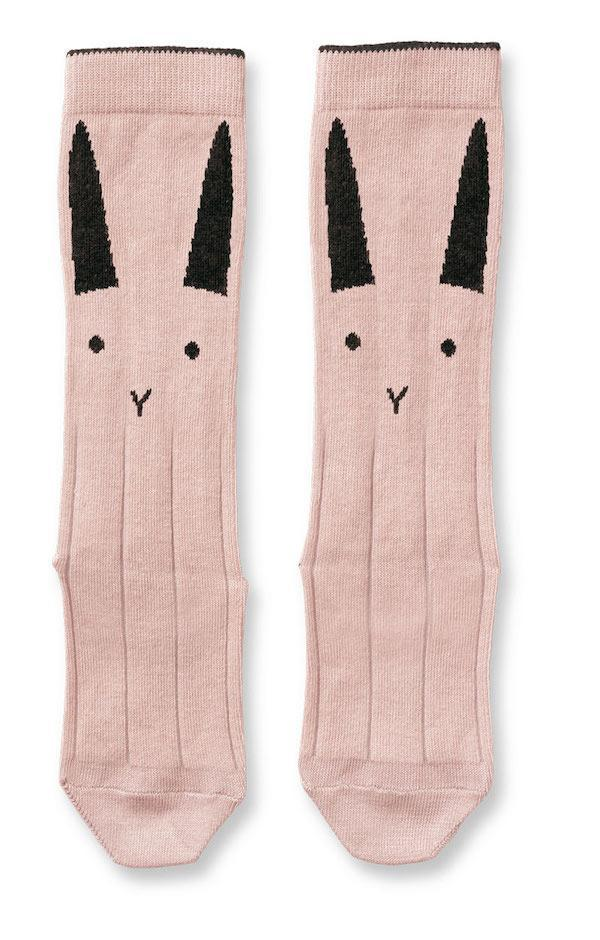 Liewood Sofia Knee Socks in Rose rabbit