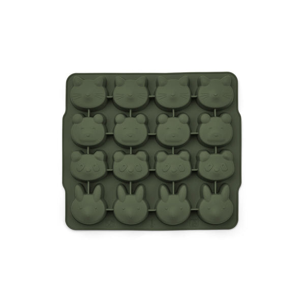Liewood Sonny IceCube Tray 2 Pack - Hunter Green / Mustard