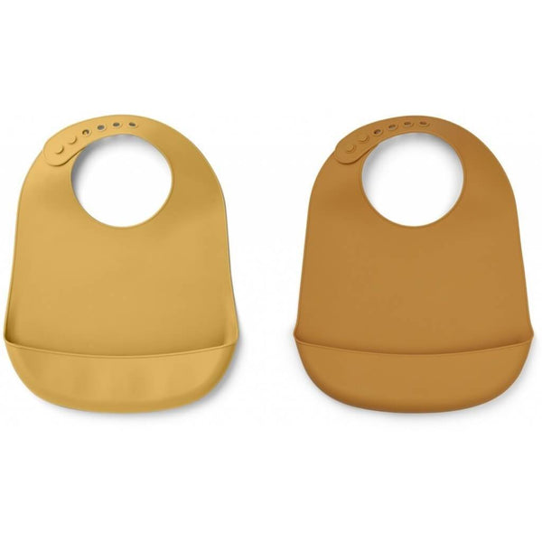 Liewood Tilda Silicon Bib 2 Pack - Mustard/Yellow Mellow Mix