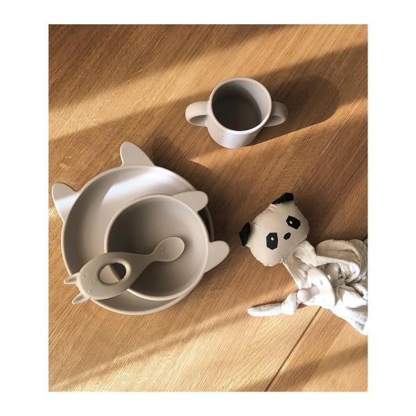 Liewood - Vivi Silicone Baby Tableware Set in Rabbit Sandy