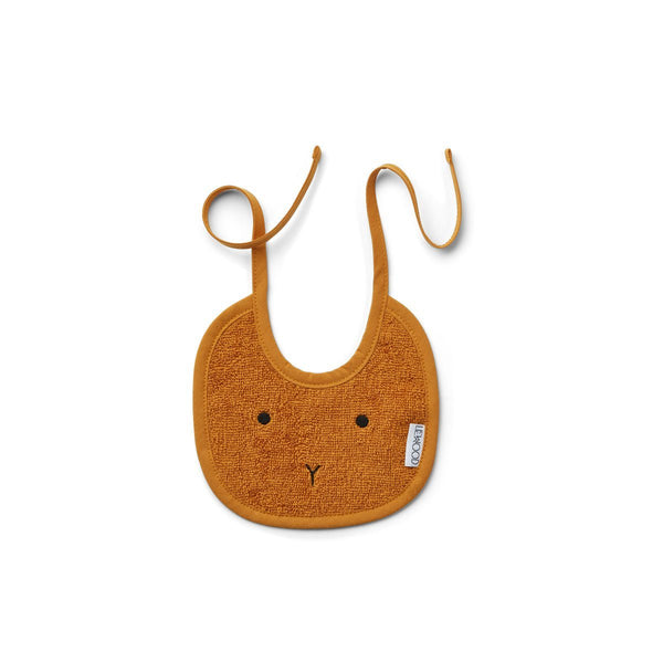 Liewood Lilja bib in Rabbit Mustard (2 pack) - scandibornusa