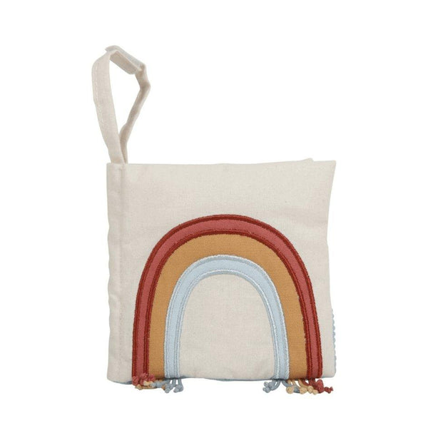 Little Dutch Activity Rainbow Pram Book in Organic Cotton
