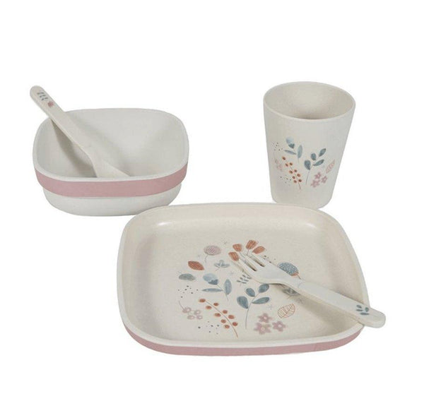 Little Dutch Bamboo Tableware Set Spring Flowers Print