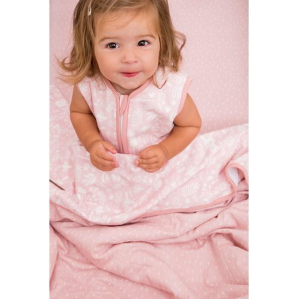Little Dutch Summer Sleeping Bag 0.4 tog in Adventure Pink