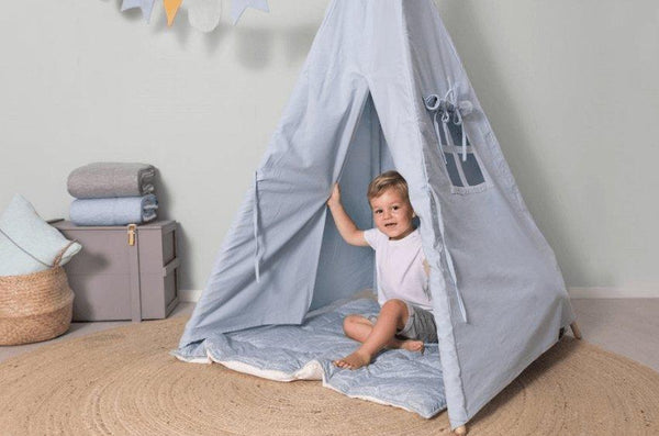Little Dutch Teepee Blue (Incl. Bunting & Playmat)