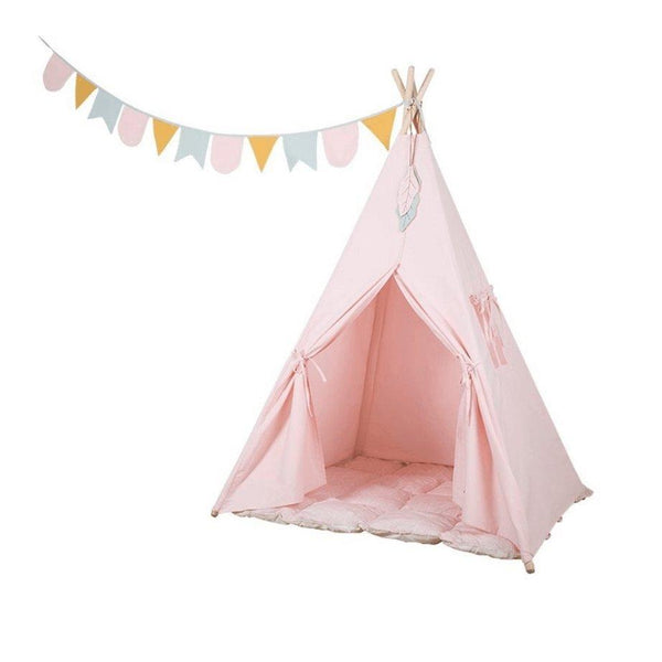 Little Dutch Teepee Pink (Incl. Bunting & Playmat)