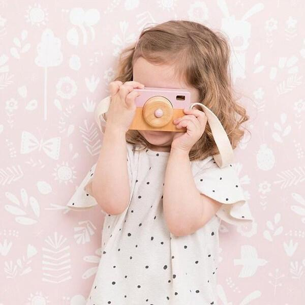 Little Dutch Toy Wooden Camera - Pink
