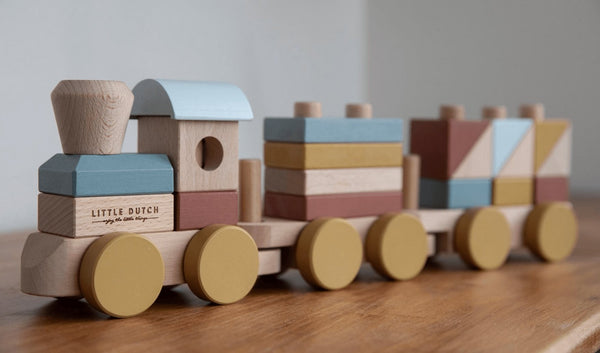 Little Dutch Wooden Stacking Train Nature