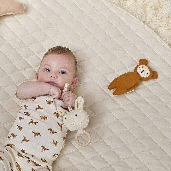 Little Green Sheep Playmat in Natural