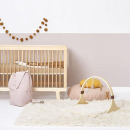 Little Green Sheep Wooden Baby Play Gym - Rainbow Honey