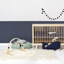 Little Green Sheep Wooden Baby Play Gym - Rainbow Midnight