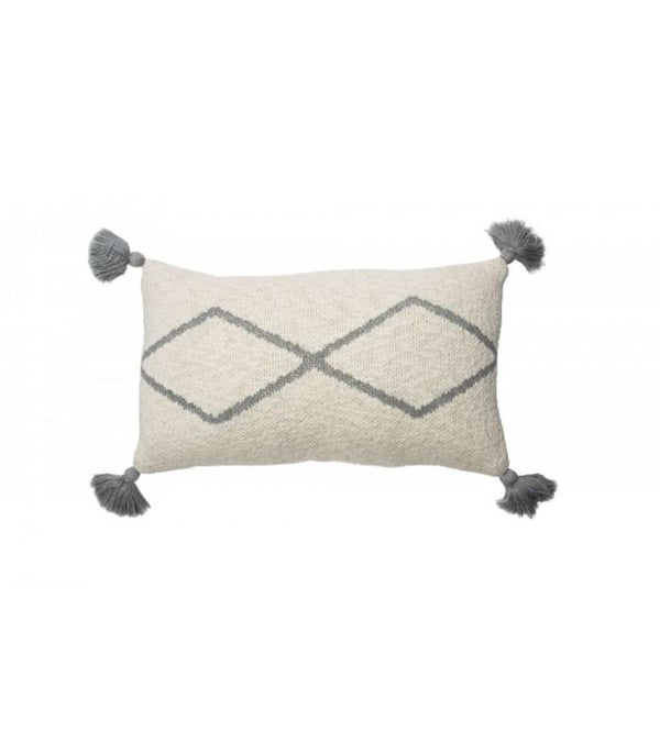 Lorena Canals Knitted Cushion Little Oasis Natural-Grey