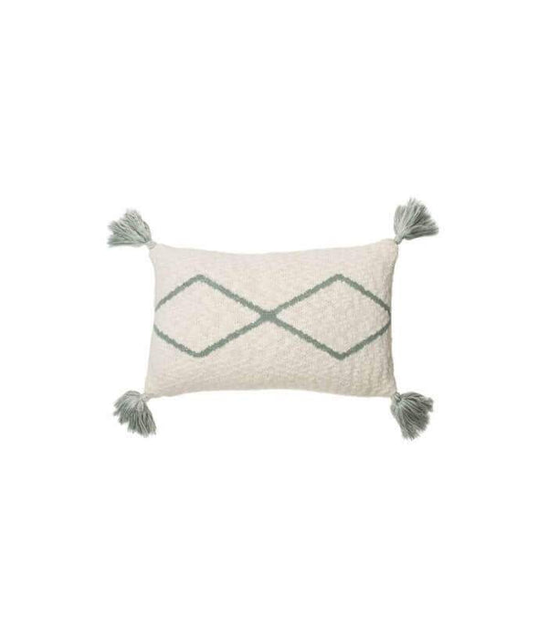 Lorena Canals Knitted Cushion Little Oasis Natural-Indus Blue