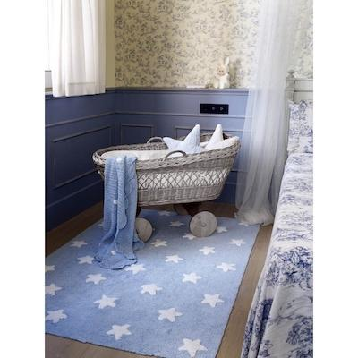 Lorena Canals Stars Washable Rug in Blue