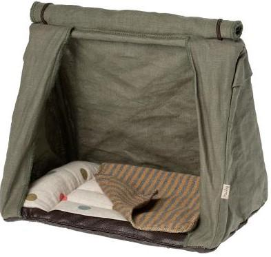 Maileg Happy Camper Tent for Mouse - Green