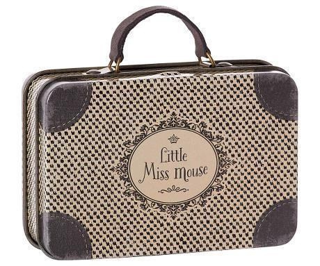 Maileg Metal Travel Suitcase Little Miss Mouse