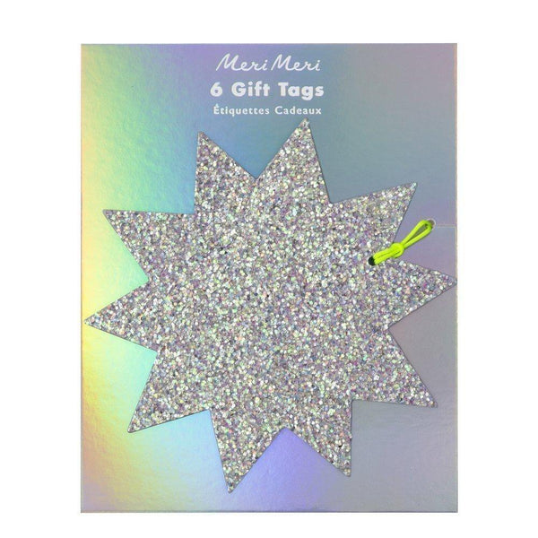 Meri Meri  Large Glitter Star Tags