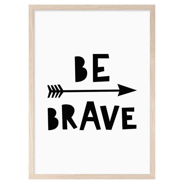 Mini Learners 'Be brave' poster