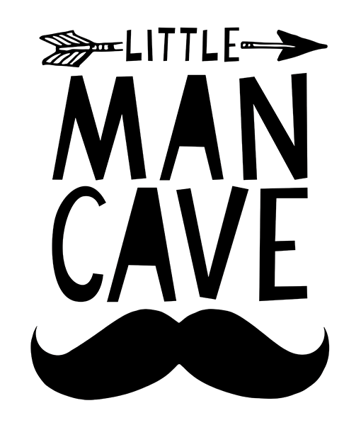Mini Learners 'Little Man Cave' poster
