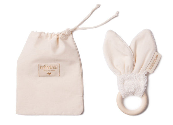 Nobodinoz Bunny Teether in Natural