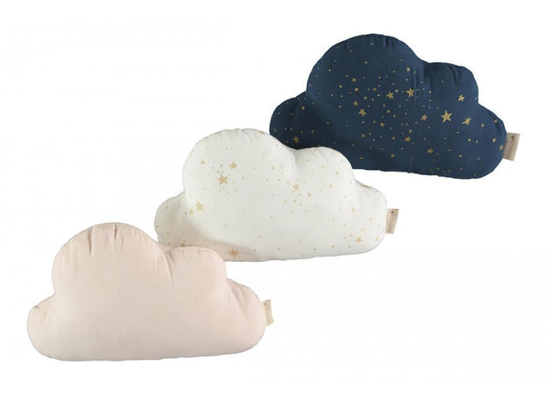 Nobodinoz Cloud Cushion in Gold Stella Night Blue