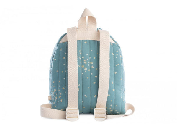Nobodinoz Cool Kid Backpack in Gold Confetti / Magic Green (Large)
