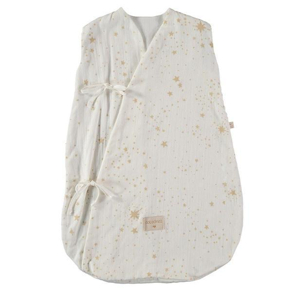 Nobodinoz Dreamy Summer Sleeping Bag - Gold Stella White