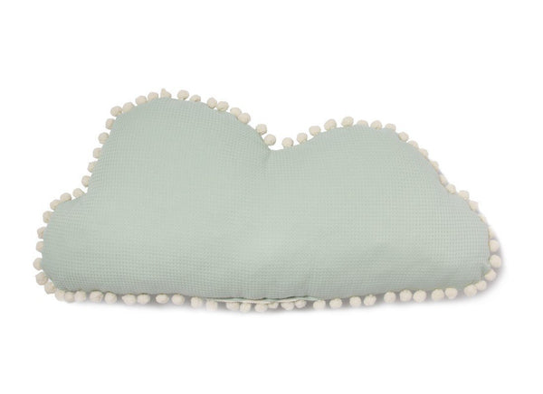 Nobodinoz Marshmallow Cloud Cushion in Aqua