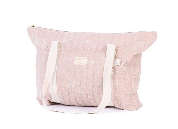 Nobodinoz Paris Maternity bag - White Bubble / Misty Pink