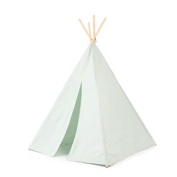 Nobodinoz Phoenix Teepee in White Bubble / Aqua