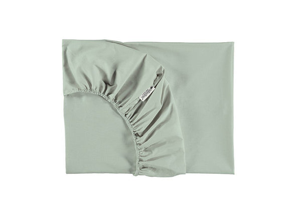 Nobodinoz Tibet Fitted Sheet in Aqua (2 Sizes)