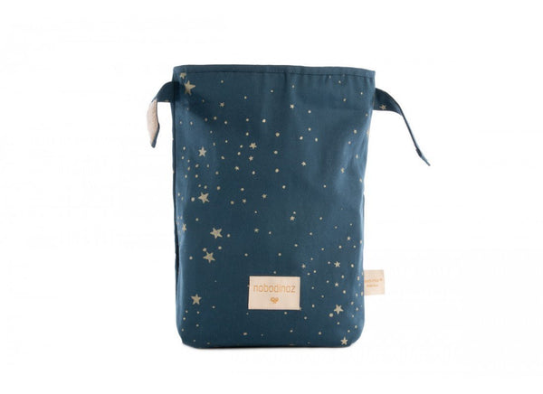 Nobodinoz Too Cool Eco Lunch Bag in Gold Stella / Night Blue