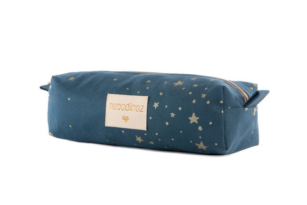 Nobodinoz Too Cool Pencil case in Gold Stella / Night Blue