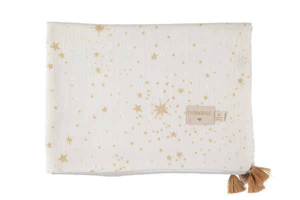 Nobodinoz Treasure Summer Blanket - Gold Stella