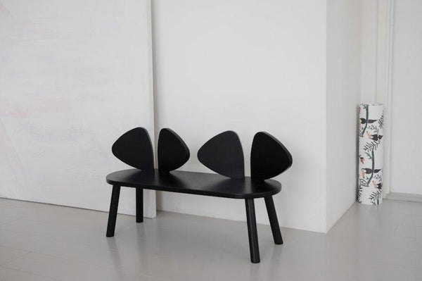 Nofred Mouse bench in Black