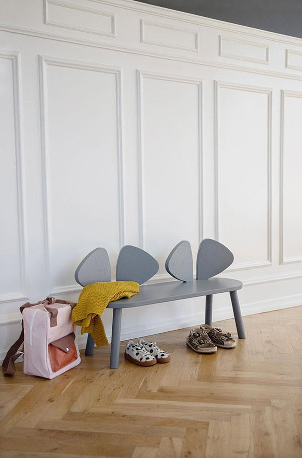 Nofred Mouse bench in Grey