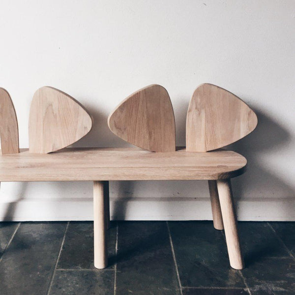 Nofred Mouse bench in Oak