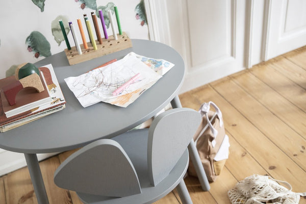 Nofred Mouse School Table in Grey (6-10 Years)