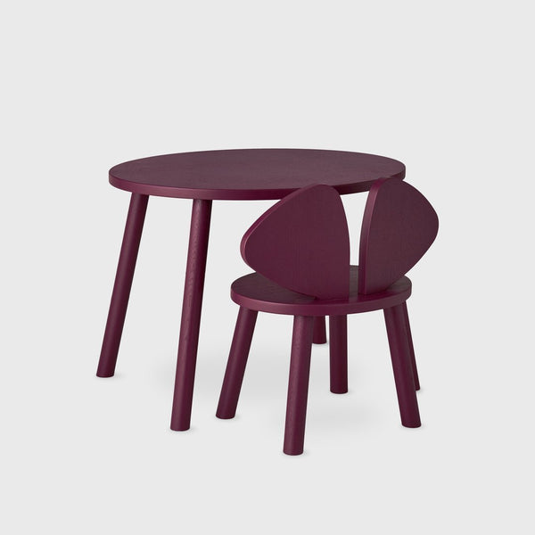 Nofred Mouse table in Burgundy (2-5 years)